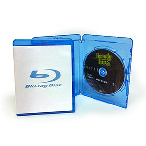 Blu-ray Disc i plastfodral med inlay (standard Blu-ray-box)